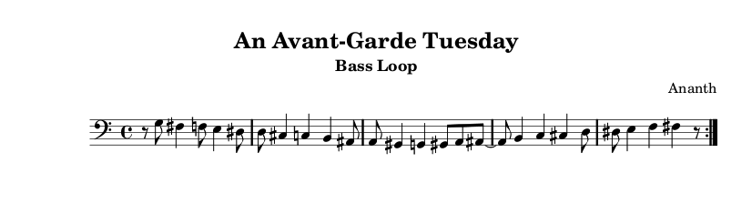 Ananth - Avantgarde Tuesday. Bass preview