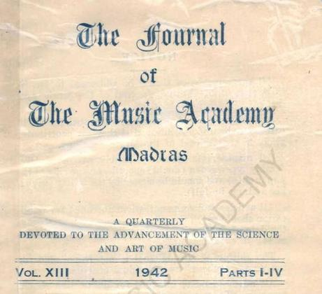 Journal of the Music Academy